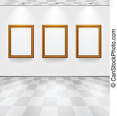 Raum mit drei Bildern