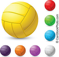 realiste, volleyball, mehrfarbig