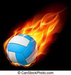 Realistische Feuer-Volleyball