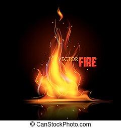 Realistische Feuerflamme.