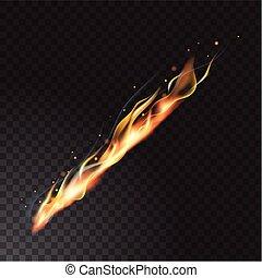 Realistische Feuerflamme