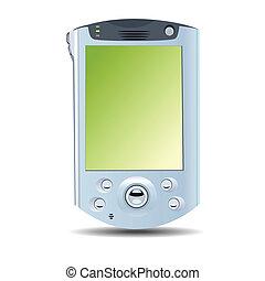 Realistische Illustration des PDA