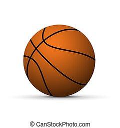 Realistischer Basketballball.