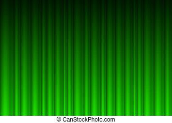 Realistischer grüner Vorhang