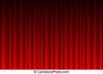 Realistischer roter Vorhang