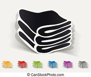 Realistisches Design-Element. Handtücher