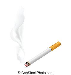 Realistisches Verbrennen von Zigaretten
