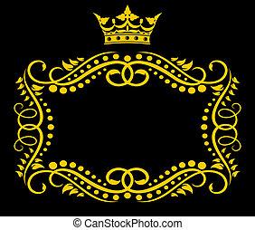 Rebfläche mit Krone