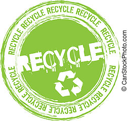 Recycle Briefmarke