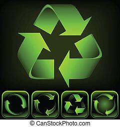 Recycle-Logo (Vector-Bildung)