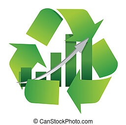 Recycling-Symbol mit einer Barkarte