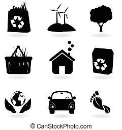 Recycling und saubere Umwelt.