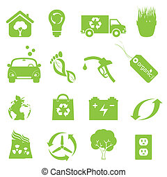 Recycling und saubere Umwelt-Ikone