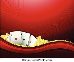 Red Casino Spiel Hintergrundelemente.