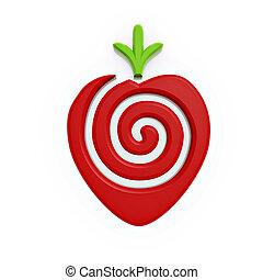 Red Erdbeersymbol