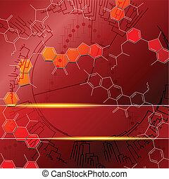 Red Science Hintergrund