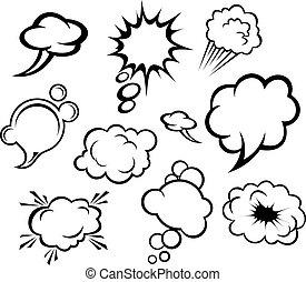 Rede Bläschen und Wolken