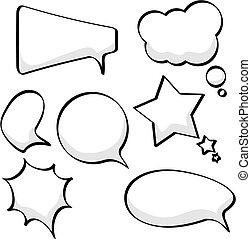 Rede und Gedankenblasen