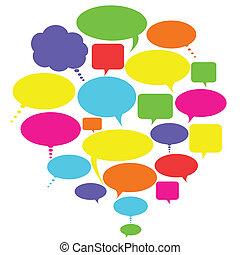 Reden, Gedanken und Redeblasen