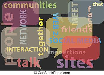 Redet über soziale Medien-Sprache