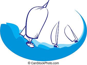 Regatta - Yachtsilhouette