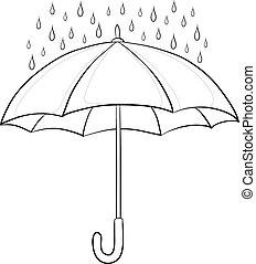 Regen und Regen, Konturen