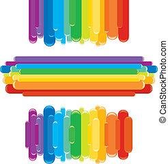 Regenbogen-Elemente. Vektorgrafiken