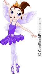(Regenbogen malt Ballerinas Serie). Violet Ballerina
