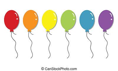 Regenbogenballons.