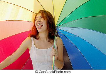 Regenbogenmädchen