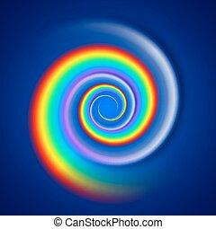 Regenbogenspirale.