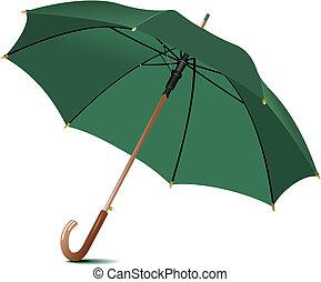 Regenschirm geöffnet. Vektor Illustration