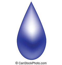 Regentropfen blau