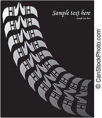Reifenabdruck - Vektor