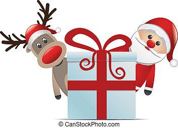 Reindeer Weihnachtsmann-Geschenk