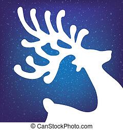 Reindeer Winterstars und Schnee