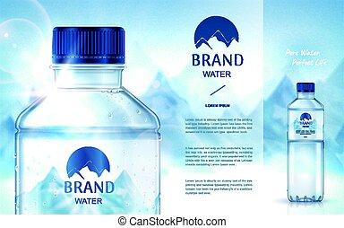 Reine Mineralwasseranzeige.