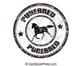 Reinrassiger Pferdestempel