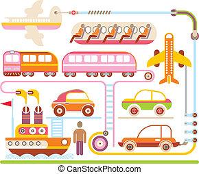 Reise & Transport - Vektorgrafik.