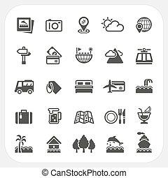 Reise- und Urlaubs-Icons eingestellt.