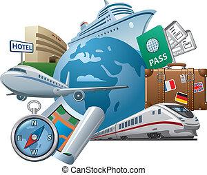 Reisekonzept-Ikone