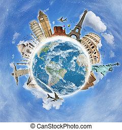 Reisen Sie das Weltdenkmalkonzept
