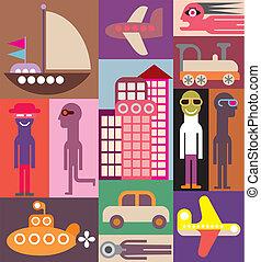 Reisevektor Illustration