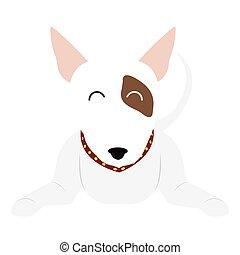 reizend, karikatur, hunde ikone