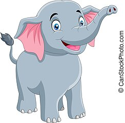 reizend, karikatur, lächeln, elefant