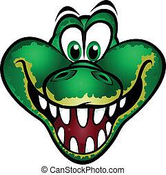 reizend, maskottchen, krokodil