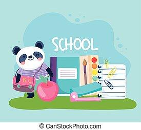 reizend, tier, schule, panda