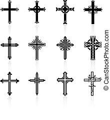 Religiöse Cross-Design-Sammlung