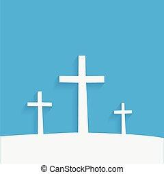 Religiöse Kreuze.