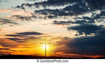 religion, form, natur, kreuz, himmlisch, dramatisch, symbol, hintergrund